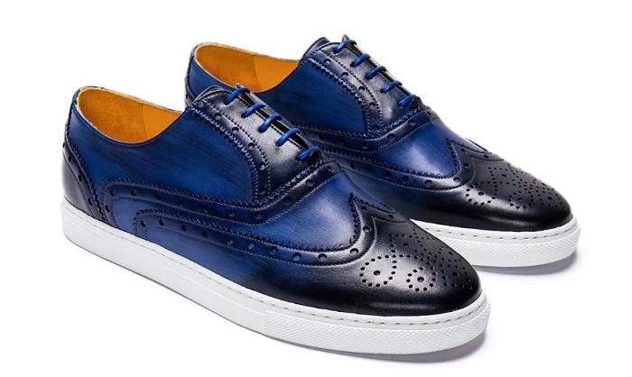 undandy leather tennis shoes