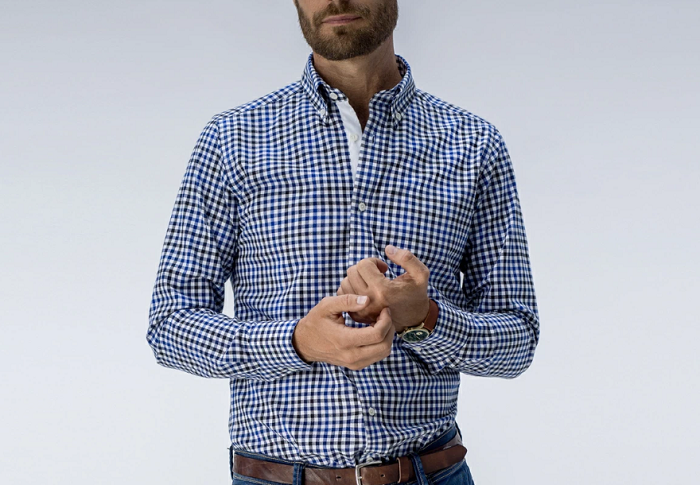 tailor store checked shirt