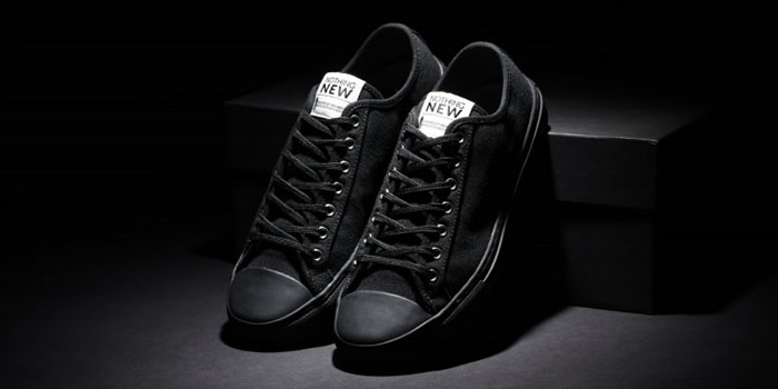 all black nothing new low top sneakers