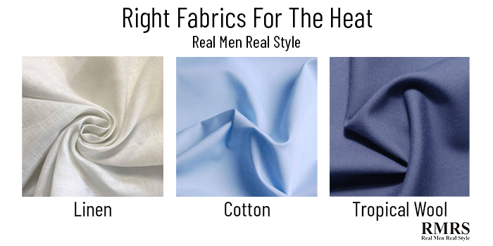 different fabrics for heat