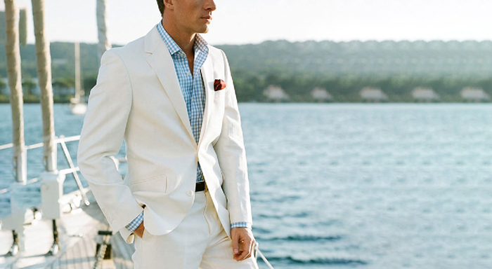 guy wearing a white suit