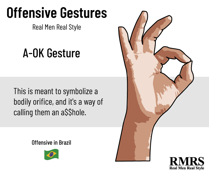 offensive gesture brazil infographic