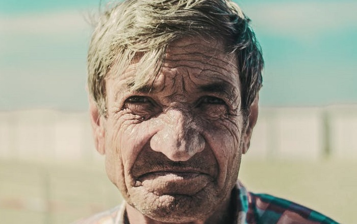 man with wrinkles