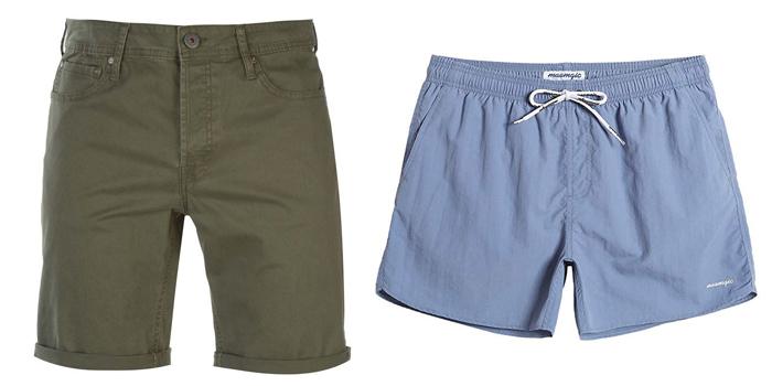 shorts and swim shorts