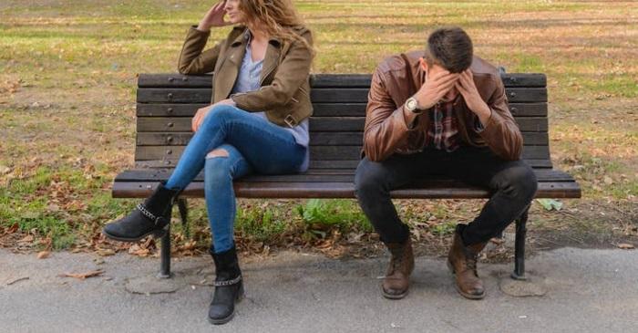 breakup on bench