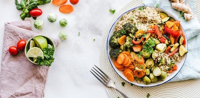 dinner salad vegetables