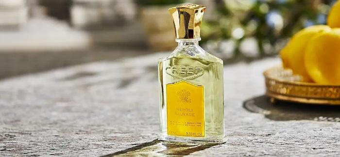 creed neroli bottle scenery