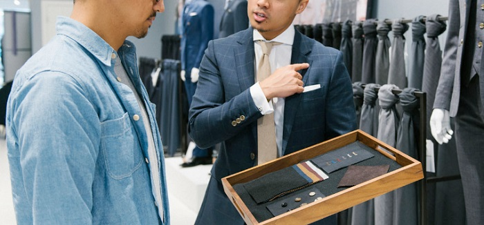 indochino tailor working
