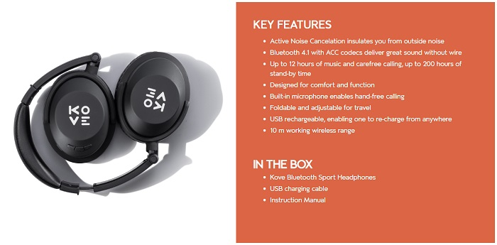 kove headset features list