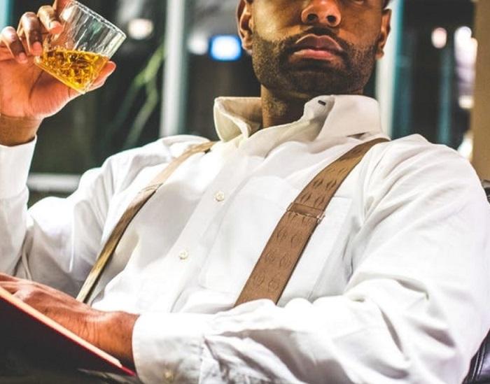 man wearing suspender
