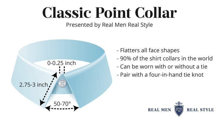 classic point dress shirt collar
