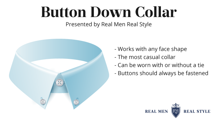 button down collar build