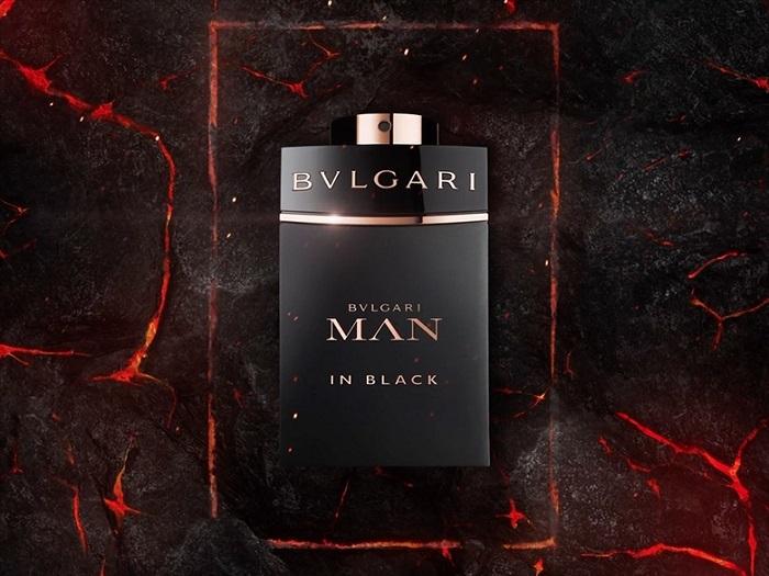 man in black bottle