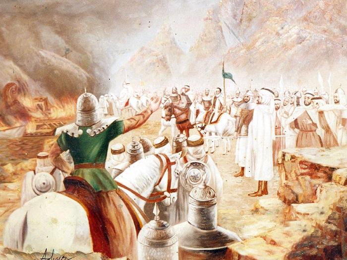 general tariq burning his boats