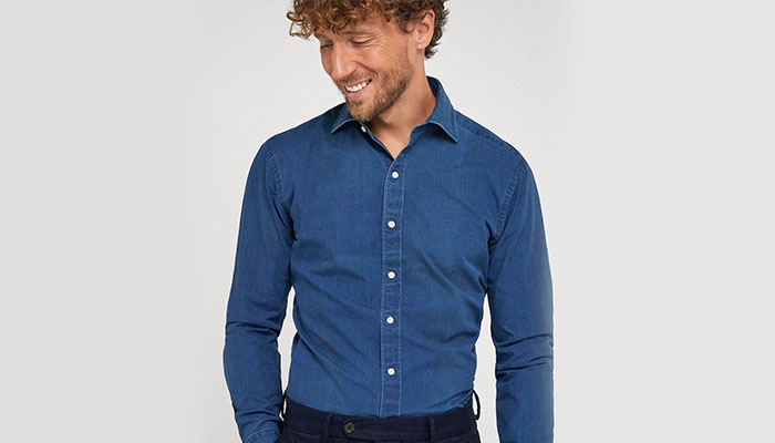 cold weather fashion denim shirt