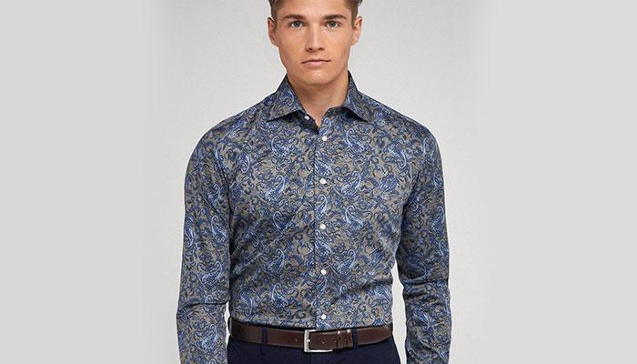 cold weather fashion paisley shirt
