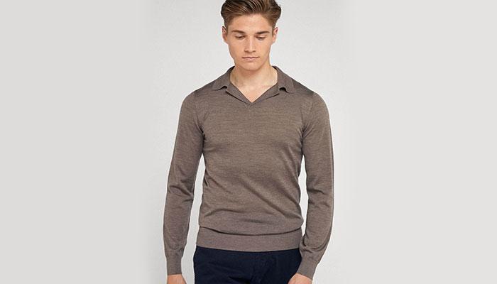 cold weather fashion long sleeve polo shirt