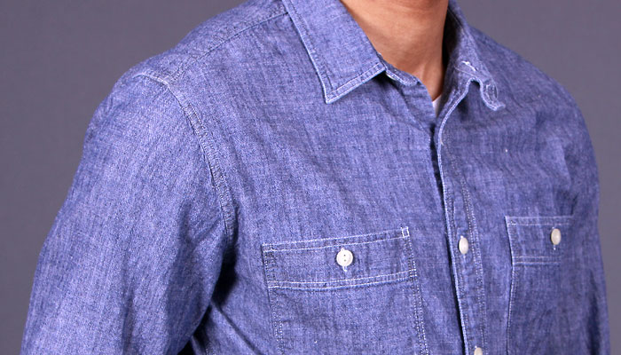 chambray shirt man