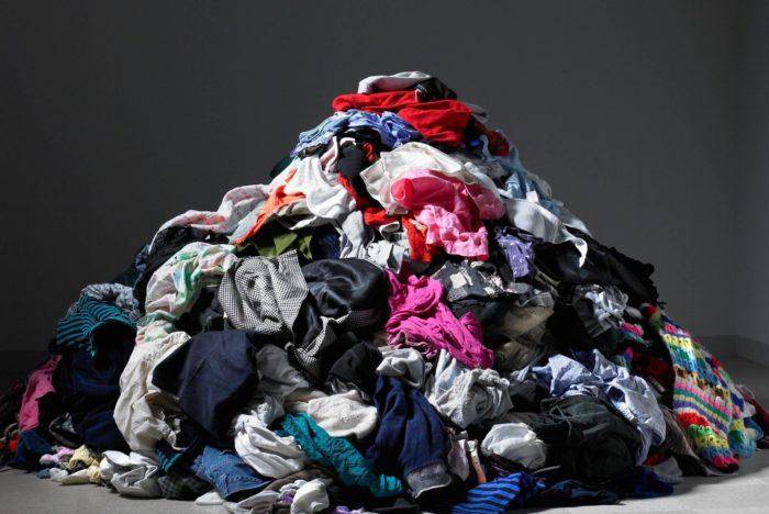large clothing pile