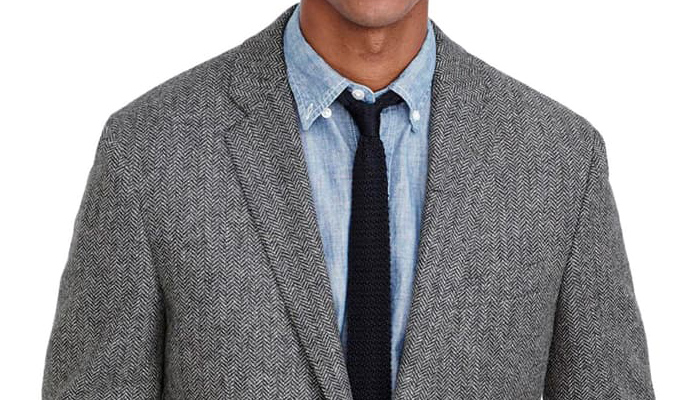 herringbone tweed sports coat