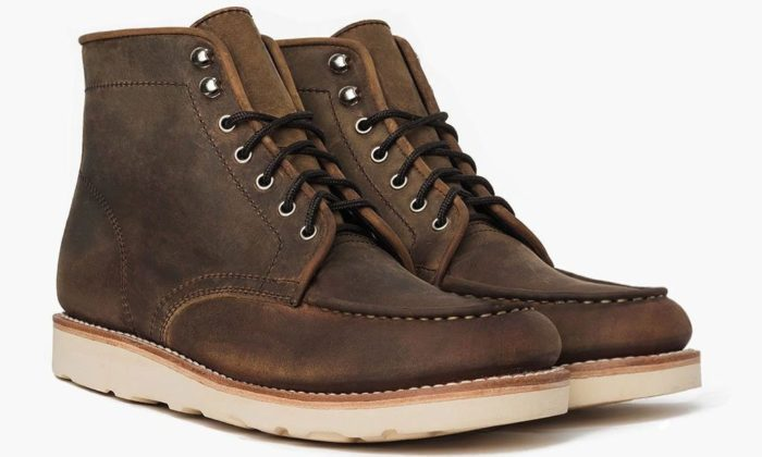 moccasin work boot