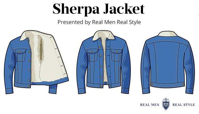 sherpa jacket mens fall clothing idea