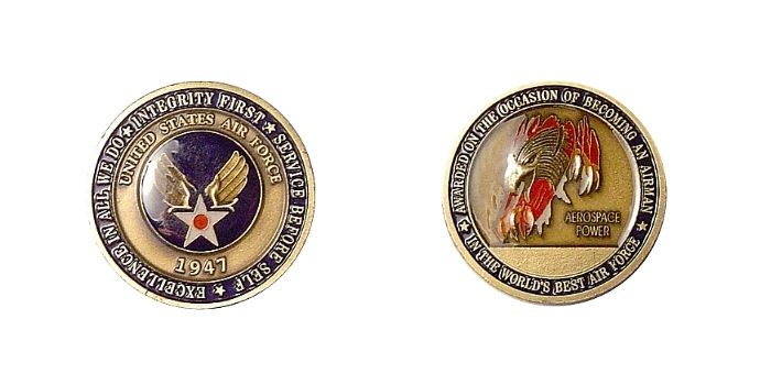 stylish men's accessories- USAF challenge coin