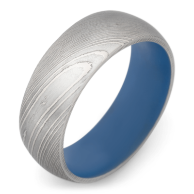 mens ring damascus steel
