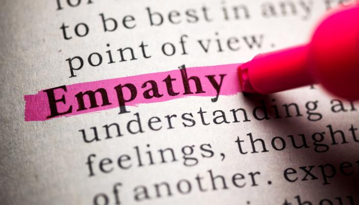 man showing empathy