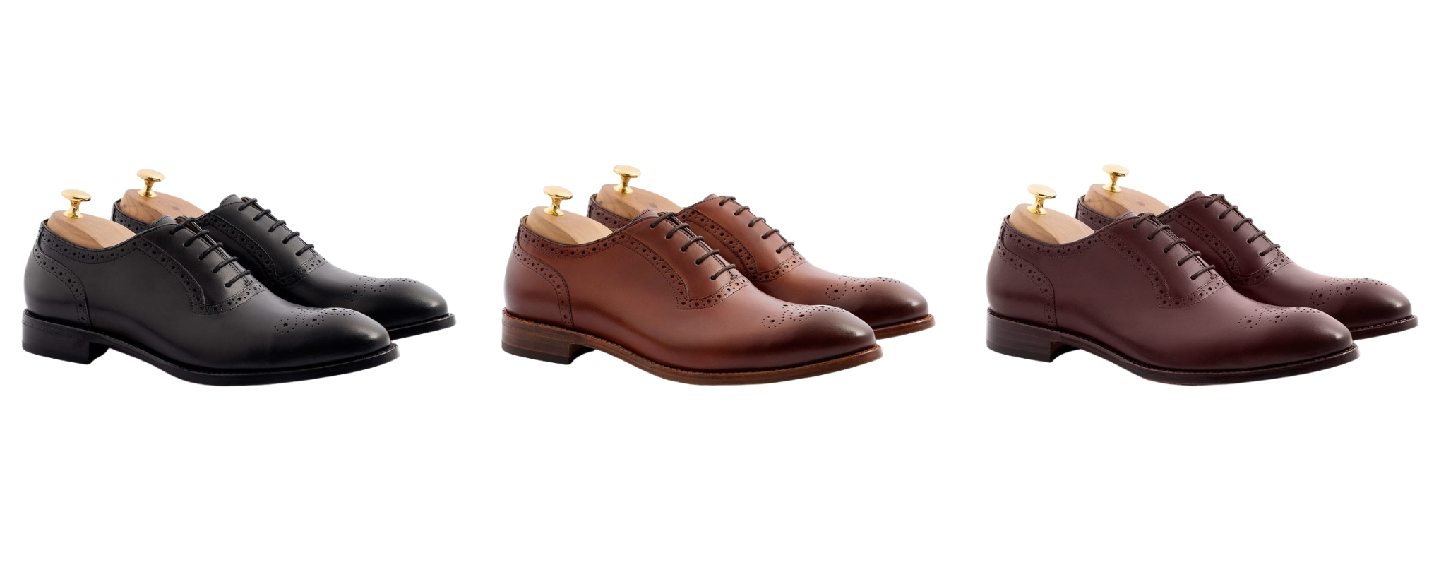 black, brown and burgundy dress shoes