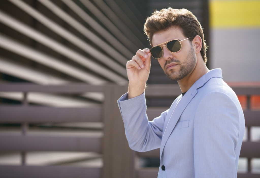 Man In Suit And Sunglasses how to buy men's sunglasses