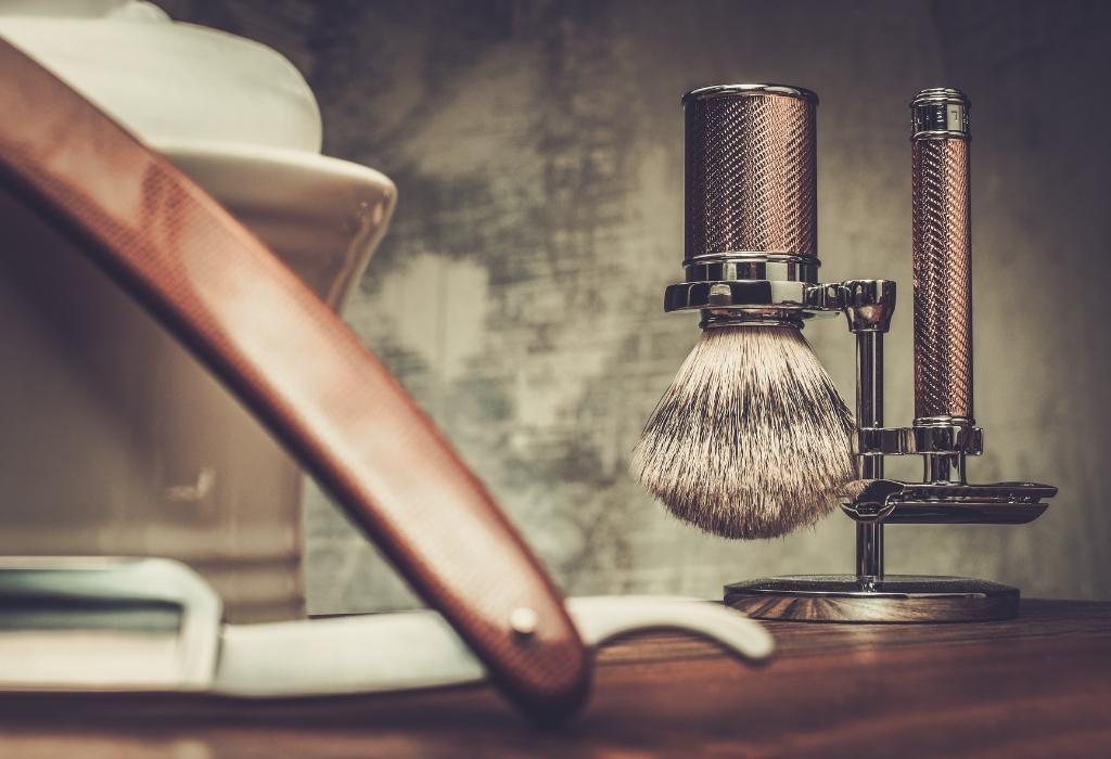 Shaving Brush And Straight Razor
