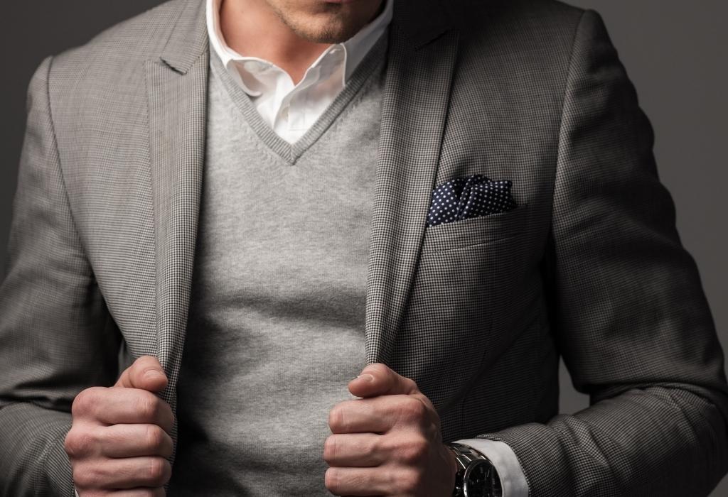 Terno-casaco-e-suéter - comunique-se com confiança