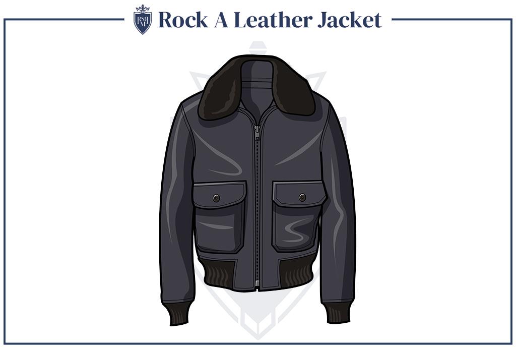 leather jacket creates cool look