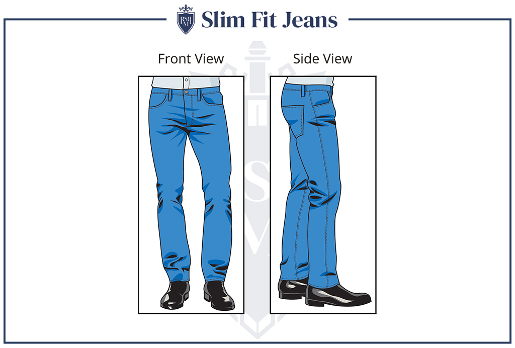 well fitted jeans make men look cool