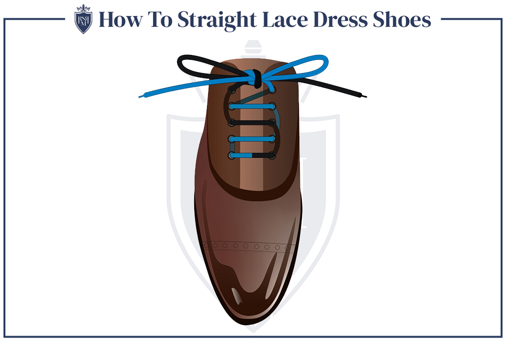 knowing how to straight lace dress shoes is one of the best clothing hacks for guys