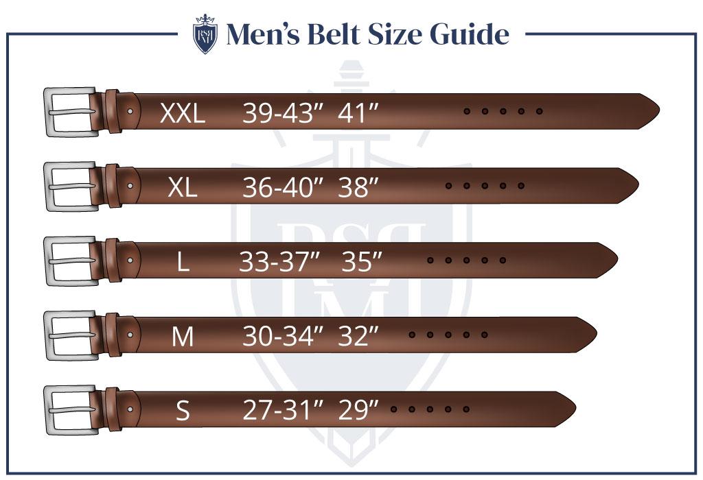 Men Belt Size Guide