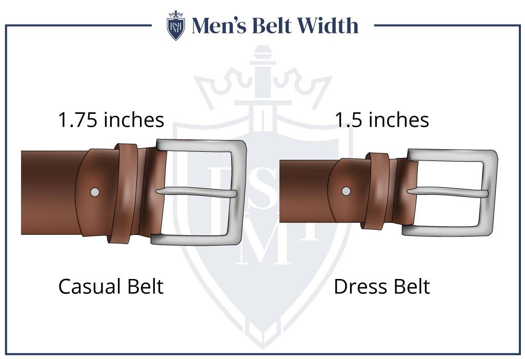 Mens Belt width