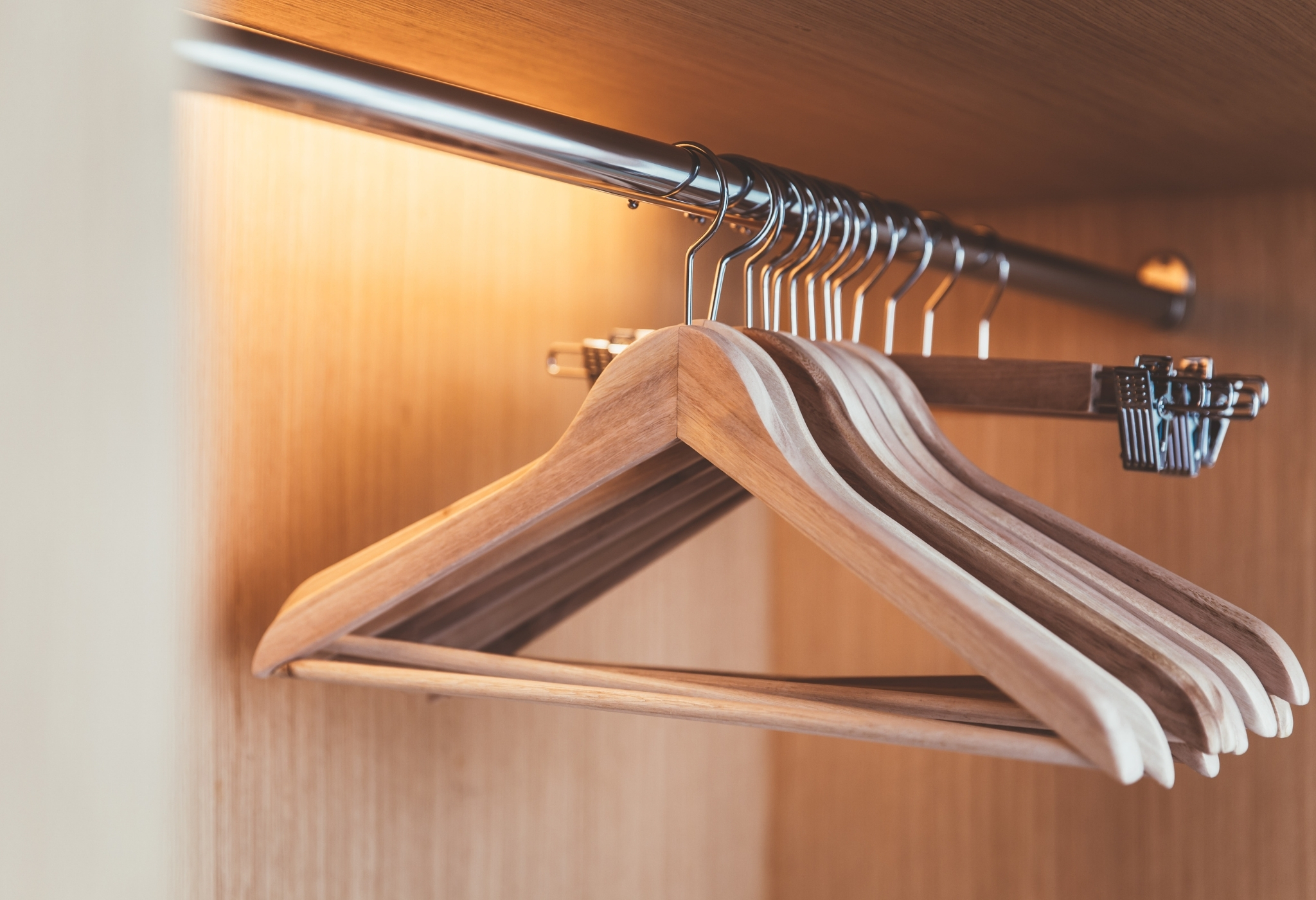 using hangers is one of the best clothing hacks for guys