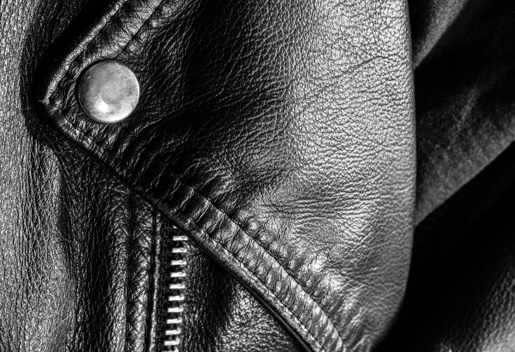 Leather Jacket Lapel