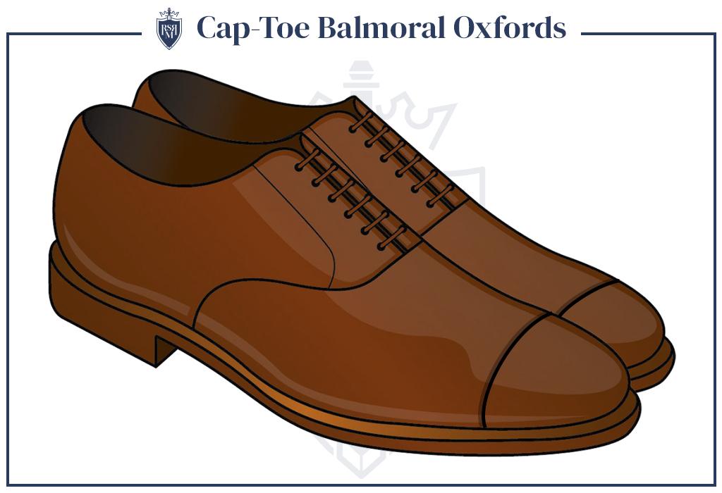 Infographic Cap-Toe Balmoral Oxfords