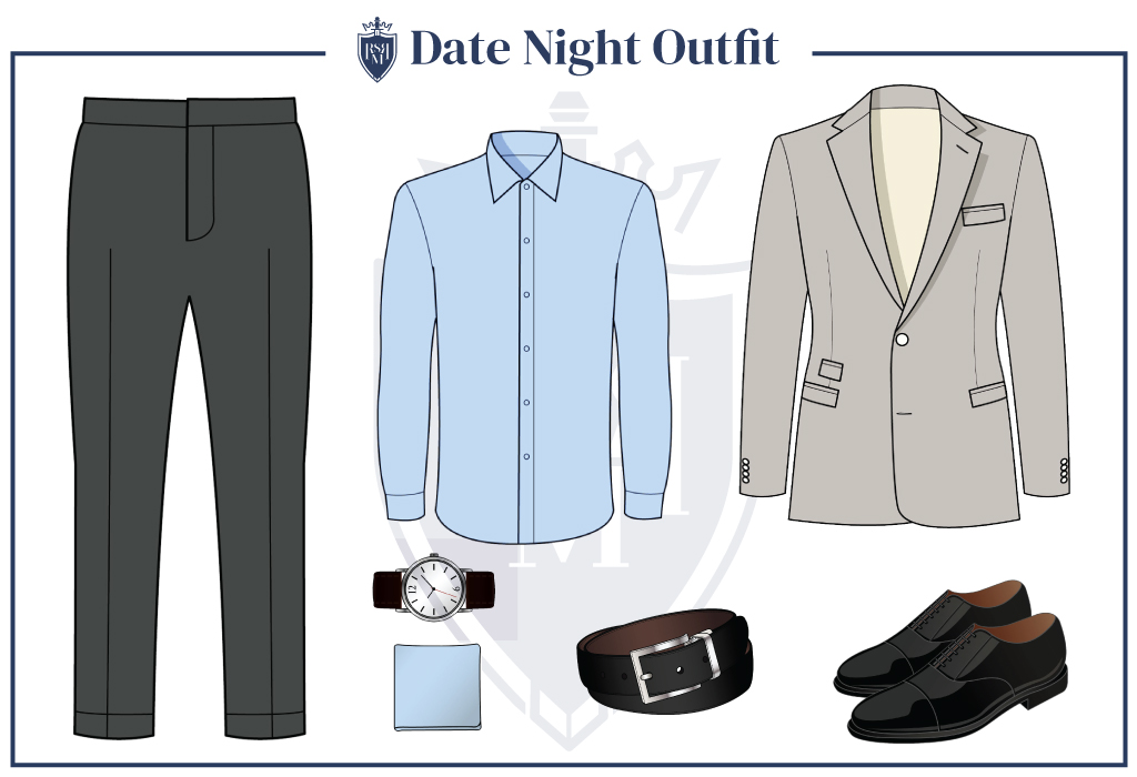 dating outfit idea for a man in his 30s