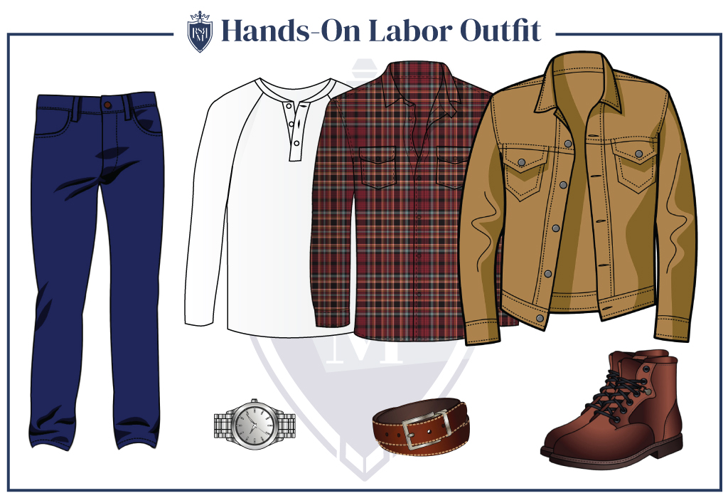 Hands-On-Labor outfit for a man in his 30s
