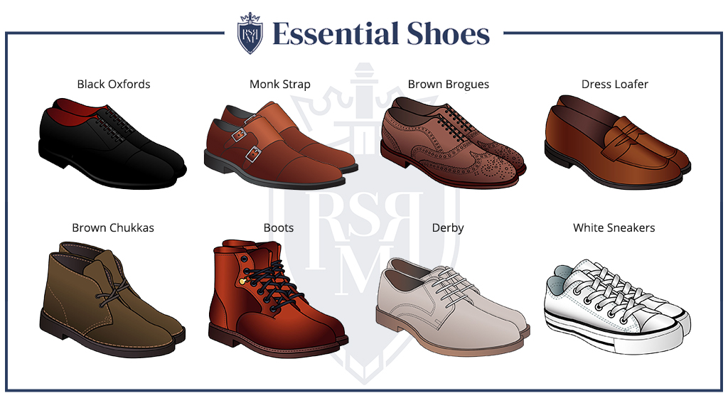 Essential Shoes styles for a man in his 30s