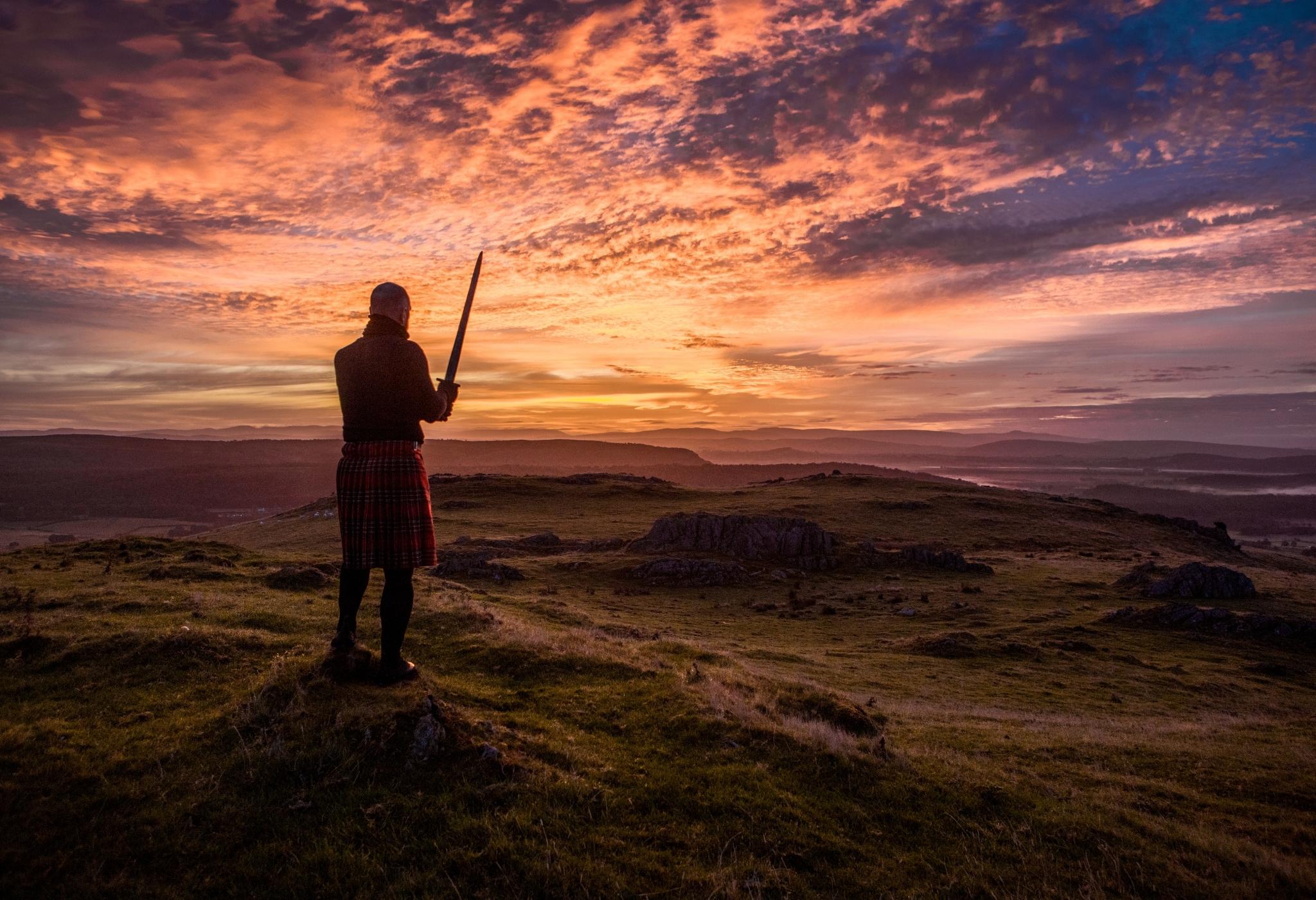 guerreiro vai commando em um kilt