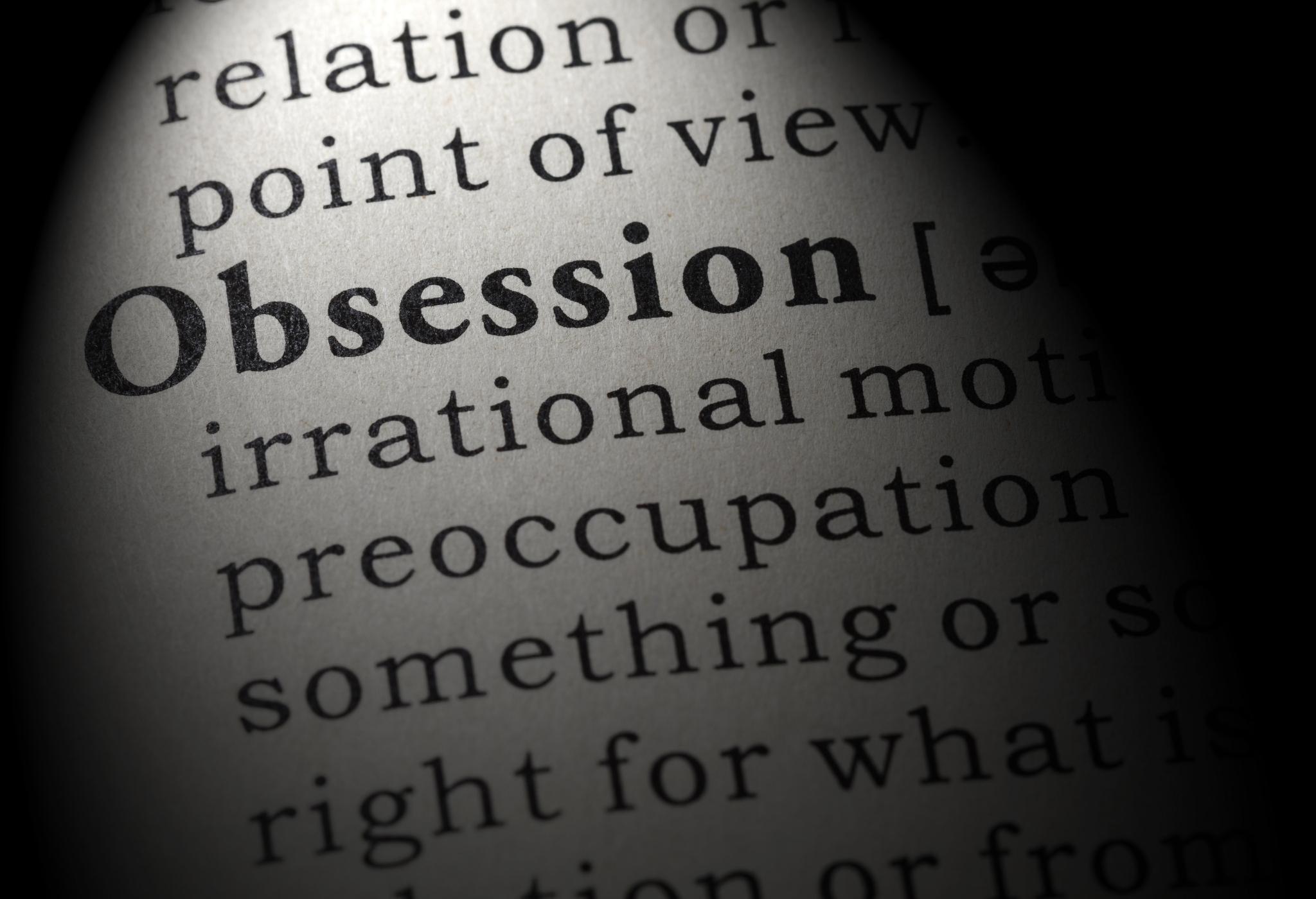 definição de dicionário de obsessão