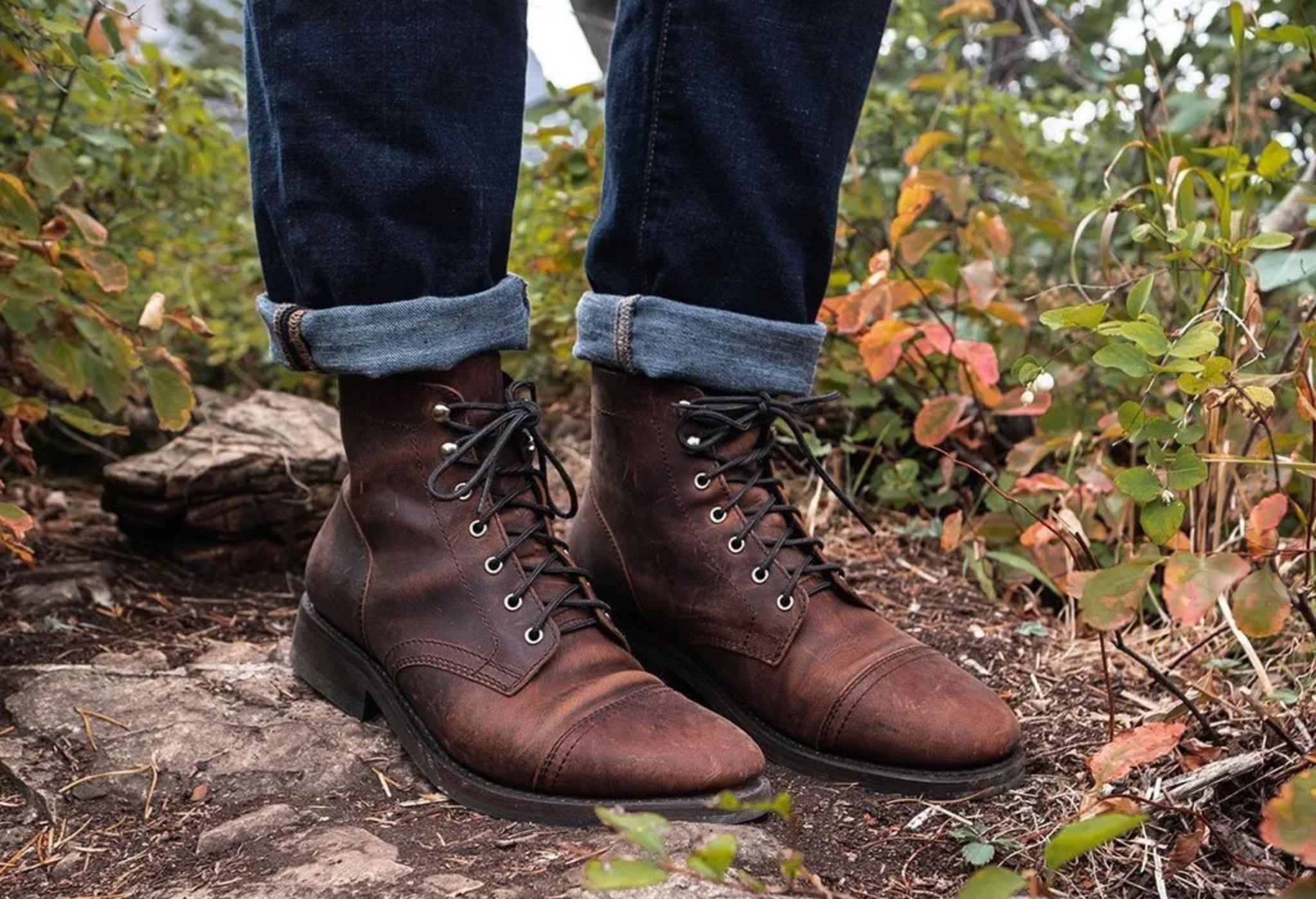 botas de couro masculino