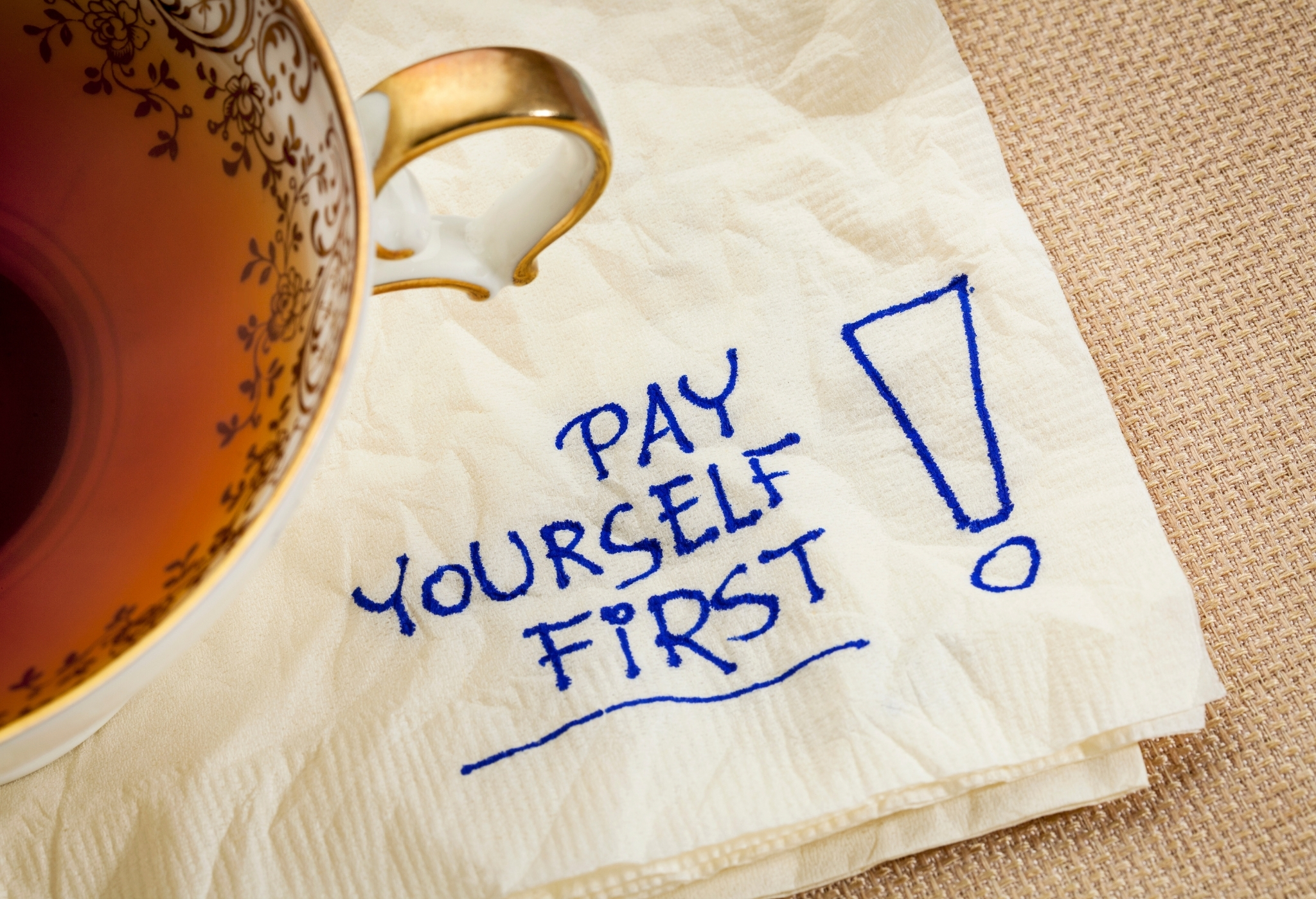 pay yourself first is advice i would give younger self