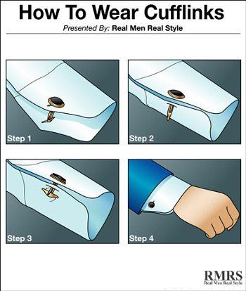 How to properly wear male jewelry for Cufflinks on regular dress shirt