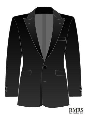 Peak lapel single breasted suit